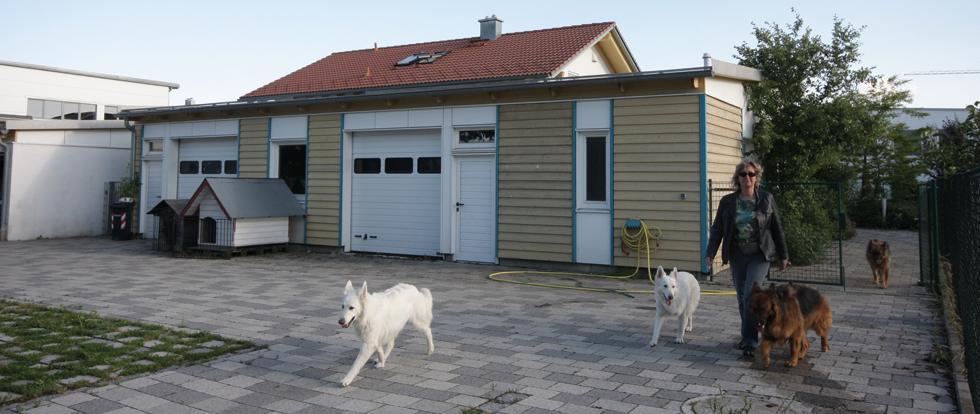 Die Trainingshalle der Hundeschule Bobingen von außen